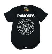 Body Banda de Rock 100 Algodão Ramones - Bebê