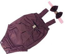 Body Bebe Estampado Luxo Ensaio Fotografico +Laço de Cabelo 3-9 Meses - Piftpaft