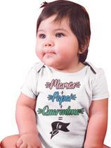 Body Bebê Infantil Mamãe + Papai + Quarentena = Eu Branca - Del France