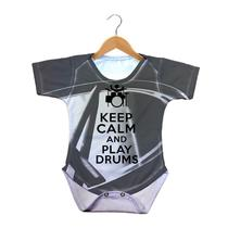 Body Bebê Keep Calm and Play Drums - 429K