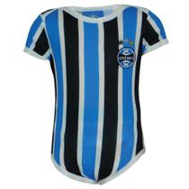 Body Bebê Menino Grêmio Manga Curta Tricolor Dia a Dia -