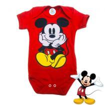 Body Bebê Personagem Mickey Vermelho - Alegria Baby & Kids