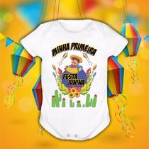 Body de bebê personalizado minha primeira festa junina nova - Vidape
