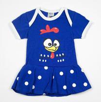 Body Fantasia 100 Algodão Galinha Pintadinha Azul Escuro - Bebê