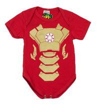 Body Fantasia 100 Algodão Homem de Ferro - Bebê
