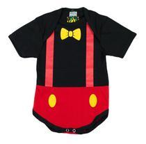 Body Fantasia 100 Algodão Mickey Mouse - Bebê