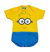 Body Fantasia 100 Algodão Minions - Bebê