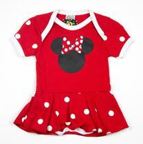 Body Fantasia 100 Algodão Minnie Mouse - Bebê