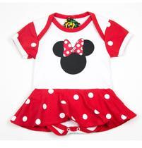 Body Fantasia 100 Algodão Minnie Mouse Branca - Bebê