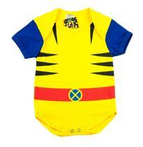 Body Fantasia 100% Algodão Wolverine - Bebê