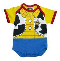 Body Fantasia 100 Algodão Woody Toy Story - Bebê