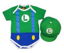 Body Fantasia Acessório 100 Algodão Luigi - Bebê