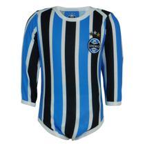 Body Grêmio Manga Longa Tricolor - Oldoni