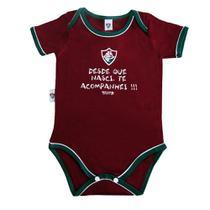 Body revedor fluminense bebê oficial unissex grená branco e verde -