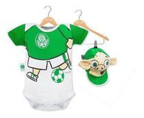 Body revedor palmeiras mascote com boné branco e verde -