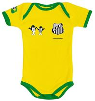 dc509e19c8 Body Santos Amarelo Torcida Baby