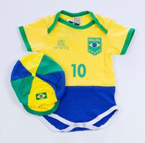 Body Time 100 Algodão Seleção Brasileira - Bebê