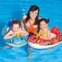Boia Bote Fralda Infantil C/ Volante - Praia - Piscina - Azul - Bastway