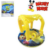 Boia Bote Inflavel Fralda Mickey Com Cobertura 74X60Cm - Etitoys