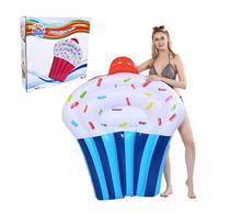Boia colchão inflável cupcake 145 x 90 cm - Wellmix