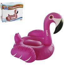 Bóia colchão inflável flamingo gigante com alças 140 x 132 cm - Wellmix