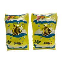 Boia De Braço Amarelo Infantil Inflável Flutuador iGUi -
