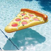 Boia De Pizza Inflável 130cm Wellmix Amarela -