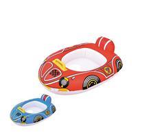 Boia Infantil Fralda Piscina Praia Carrinho com volante - Vermelha - Bastway