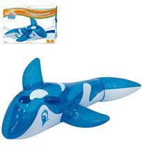 Boia Inflavel Baleia Translucida Azul Com Alca 145X80Cm Summer Fun Na Caixa - Wellmix