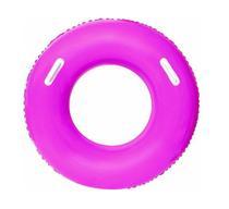 Boia inflável circular colorida grande com alças 91cm - Zein import