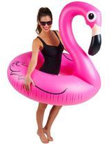 Boia Inflável de Flamingo Gigante 120 cm Divertida para Piscina - Wellmix