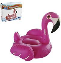 Boia Inflável Flamingo com Alça 1,32m - Wellmix