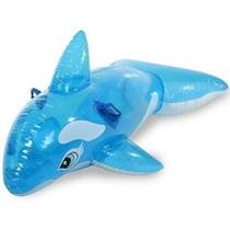 Boia inflável infantil baleia azul 145 x 80 cm - Wellmix