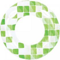 Boia Inflavel - Redonda Mosaico - Adulta - Verde - Jilong -