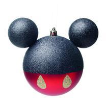 Bola Árvore Natal Mickey 10Cm C/ 2 Pçs Vermelha - Cromus