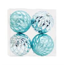Bola Azul Claro 10cm - Jogo com 4 Peças - Cromus