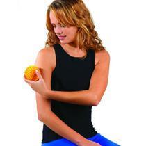 Bola Cravo para Massagem 7,5cm Rígida com Esferas Hidrolight Laranja -