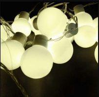 Bola Cristal C/ 20 LEDs Branca ou Amarela Romântica Pisca Bivolt - Sunflower