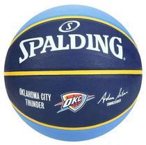 Bola de Basquete Spalding NBA Oklahoma City Thunder - Azul Claro e Marinho -