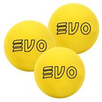 Bola De Frescobol Evo Amarelo Kit 3 Unidades -