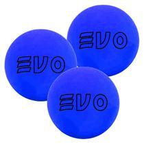 Bola De Frescobol Evo Azul Kit 3 Unidades -