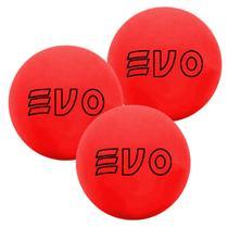 Bola De Frescobol Evo Vermelho Kit 3 Unidades -