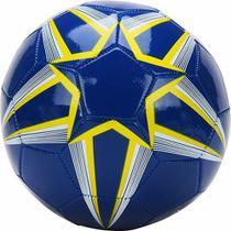 Bola De Futebol  Azul Com Detalhe Amarelo E Branco  Dtc -