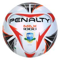 Bola de Futsal Penalty Max 1000 X CBFS - Branco e Preto -