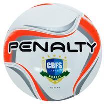 Bola De Futsal Penalty Max 200 Oficial Para Quadra Macia E Resistente Termotec 541593 Branco/Laranja -