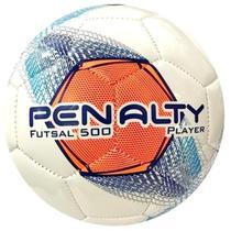 Bola De Futsal Player 500 Branco Azul e Laranja - Penalty -