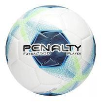 Bola De Futsal Player 500 Branco Verde e Azul - Penalty -