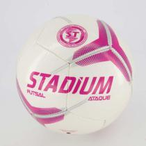 Bola de futsal Stadium ataque II - Branco/rosa/preto- Stadium -
