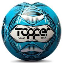 Bola de Futsal Topper SLICK III Costurada Azul -