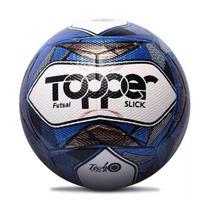 Bola de Futsal Topper Slick Oficial Branco/Azul/Preto 1887 -
